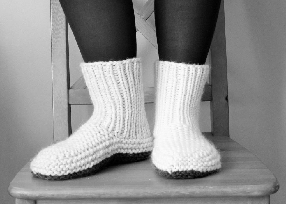 nolas slippers handknit