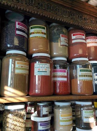 Maiwa natural dye stock